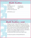 Recipe Card for DIY Bath Products