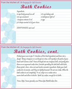 Recipe Card for DIY Bath Products