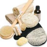 Exfoliating brushes, gloves and loofahs