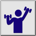 Small icon lifting weights