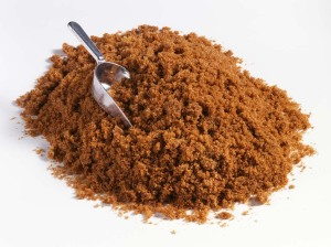Brown Sugar Pile with scoop