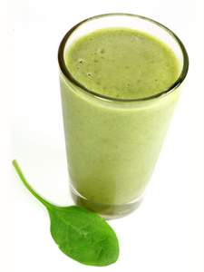 Green Spinach Smoothie with Spinach Leaf