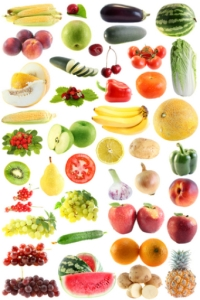 Poster of fruit and vegetables