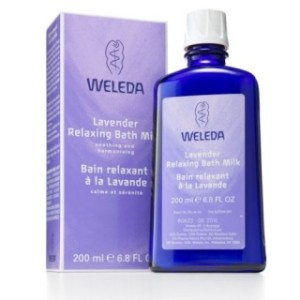Weleda Aromatherapy Relaxing Lavender Bath Milk Bottle and Box