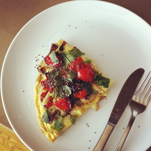 Potato omelette with chia seeds