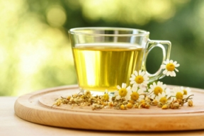 Herbal Tea with Chamomile Flowers
