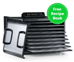 Excalibur 9 Tray Food Dehydrator with 48 Hour Digital Timer with free recipe book offer