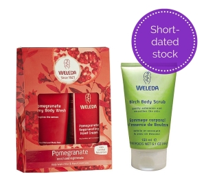 Weleda Short-dated Specials Pomegranate Gift Pack and Birch Body Scrub
