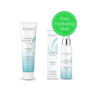 Kosmea Moisturising Lotion SPF 30- 0mL with Free Gift of Hydrating Rosewater Mist 125mL
