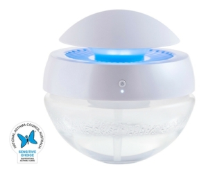 Cli~mate AW200l Air Washer with the Sensitive Choice Blue Butterfly Logo