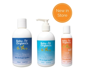 Baby Organics Bath Time Products New in Store at Echolife Australia