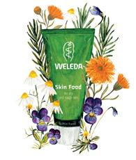 Weleda Skin Food Drawing with Ingredients